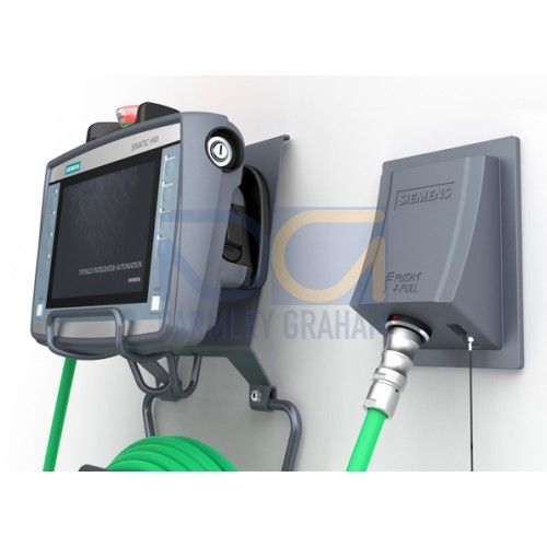 6AV21252AE230AX0 - Connection Box Advanced for Mobile Panels 2nd Generation  Panles, Mounted on Wall, PROFINET & PROFISAFE, Loop in of Safety Circuit