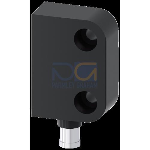 Switch block for door hinge left, 26x36mm, 1NO+1NC, M8 plug connector