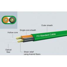 Glass fiber optic cable