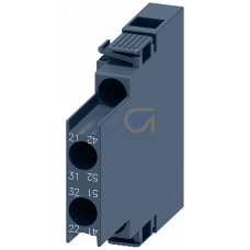 Lateral Aux.Switch Block,Side, 2NC, S00, Screw Terminal