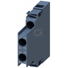 Lateral Aux.Switch Block,Side, 2NO, S00, Screw Terminal