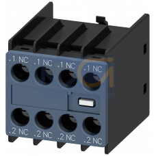 Aux.Switch Block, Front, 4NC, S00 to S3, Screw Terminal
