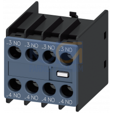 Auxiliary switch block, 4NO, sizes S00 to S3