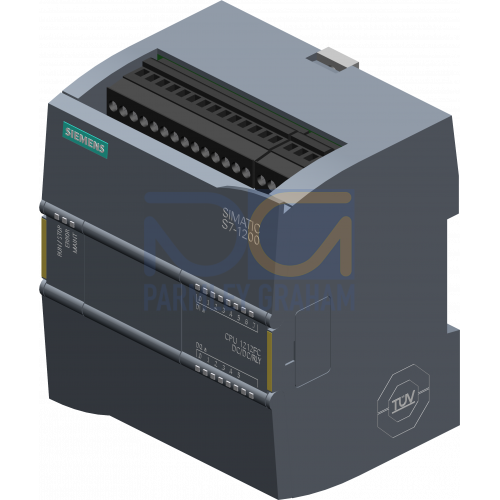 CPU 1212 FC - 24 VDC PSU, 8 DI (24 VDC), 6 Relay DQ, 2 AI (0-10V), 100kB