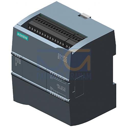 CPU 1211C - 24 VDC PSU, 6 DI (24 VDC), 4 DQ (24 VDC), 2 AI (0-10V), 50kB