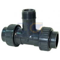 Installation fitting type 310 PVC-U For socket systems metric