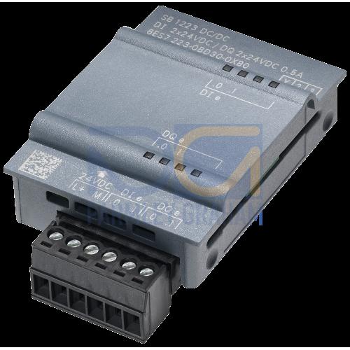 SB 1223 - 2DI/2DQ, 2 x 24VDC Input, 2 x 24VDC Output (0.5A)