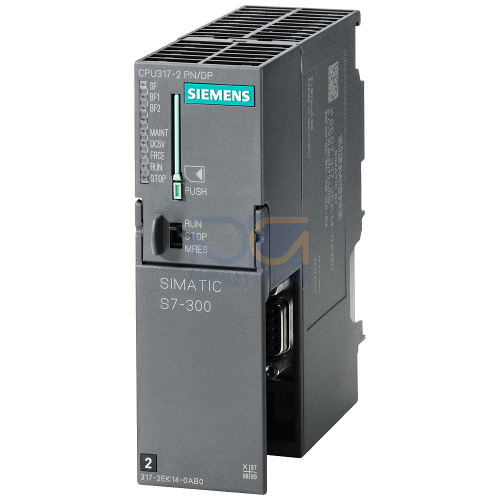317-2PN/DP CPU, 1 MB, 1 x Interface MPI/DP, 1 x Ethernet Profinet (2 port Switch) (MMC Required)