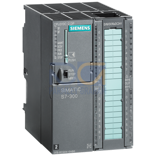 313C-2DP Compact CPU, 128 KB, 16 Inputs / 16 Outputs, 2nd Interface DP-Master/Slave, 40 Pin Connector Required (MMC Required)