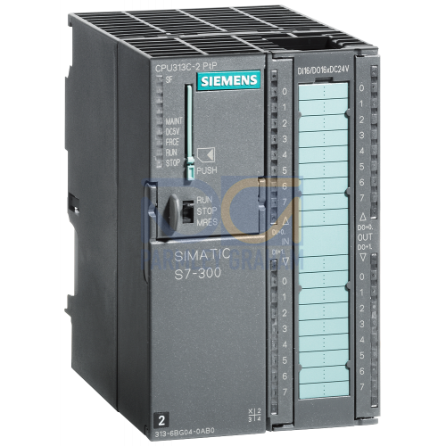 313C2 PTP Compact CPU, 128 KB, 16 Inputs / 16 Outputs, 2nd Serial Interface, 40 Pin Connector Required (MMC Required)