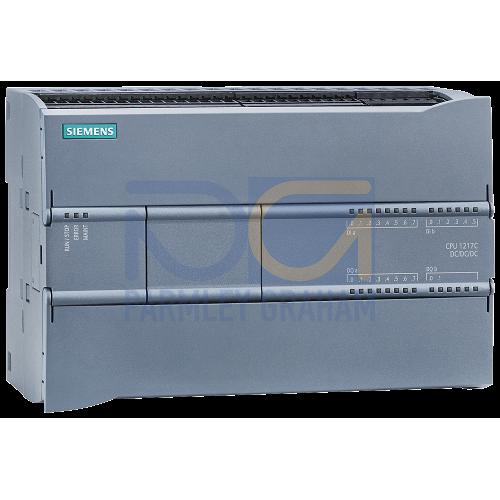 CPU 1217C - 24 VDC PSU, 14 DI (24 VDC), 10 DQ (24 VDC), 2 AI (0-10V), 2 AQ (0-20mA) 150kB, 2 port Switch
