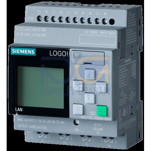 LOGO! 12/24RCE - 8 digital Inputs 12/24Vdc / 4 digital outputs Relay (10A)