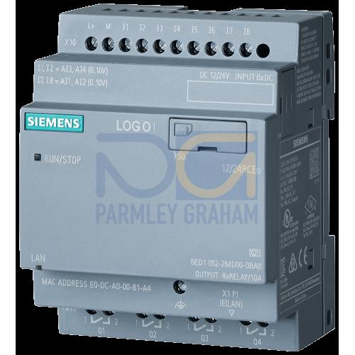 LOGO! 12/24RCo - 8 digital Inputs 12/24Vdc / 4 digital outputs Relay (10A)