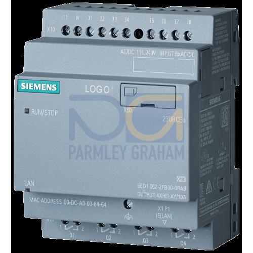 LOGO! 230RCEo - 8 digital Inputs 110/230Vac / 4 digital outputs Relay (10A)
