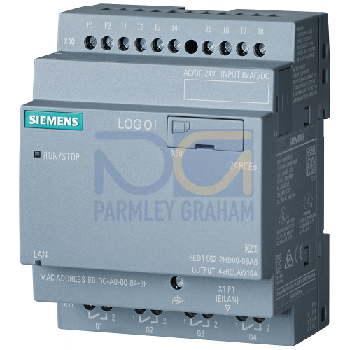 LOGO! 24RCEo - 8 digital Inputs 24Vac/dc / 4 digital outputs Relay (10A)