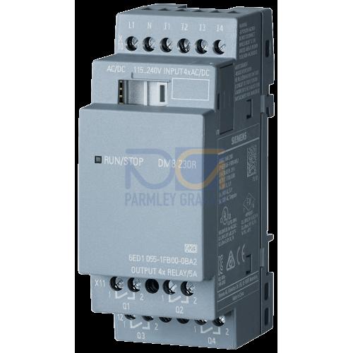 LOGO! DM8 230R - 230 V AC supply, 4 digital Inputs 230 V AC, 4 relay outputs 5 A
