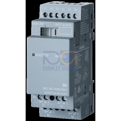 LOGO! DM8 24R - 24 V DC supply voltage, 4 digital Inputs 24 V DC, 4 relay outputs
