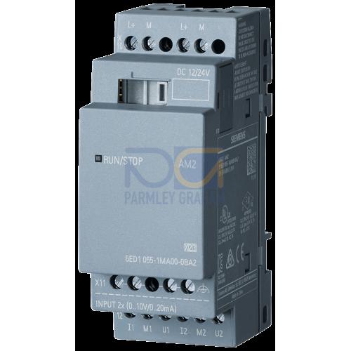 LOGO! AM2 - 12/24 V DC supply voltage, 2 analog Inputs 0 to 10 V or 0 to 20 mA