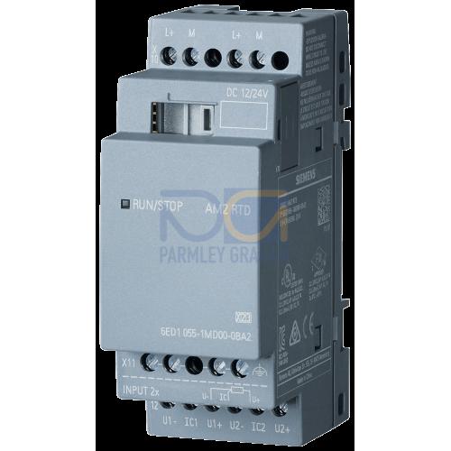LOGO! AM2 RTD - 12/24 V DC supply, 2 PT100/1000 analog Inputs, temperature range -50 degC to 200 degC