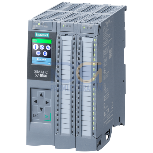 CPU 1511C-1 PN, 175 KB / 1 MB (Program/data memory), 16 Inputs / 16 Outputs, 4+1 AnaIogue Inputs / 2 Analogue Outputs, 6 HSC (100 KHZ), 1 x Ethernet Profinet (2 port Switch), includes push-in connecto