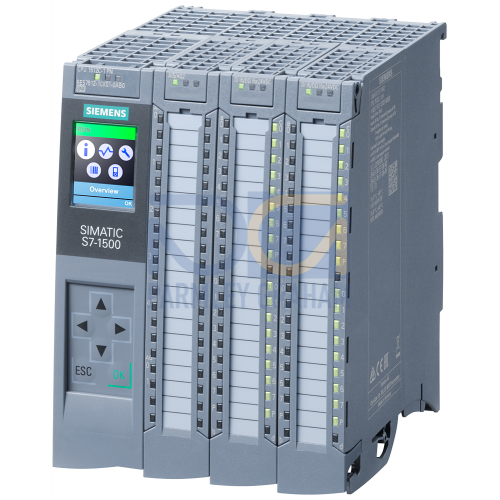CPU 1512C-1 PN, 250 KB / 1 MB (Program/data memory), 32 Inputs / 32 Outputs, 4+1 AnaIogue Inputs / 2 Analogue Outputs, 6 HSC (100 KHZ), 1 x Ethernet Profinet (2 port Switch), includes push-in connecto
