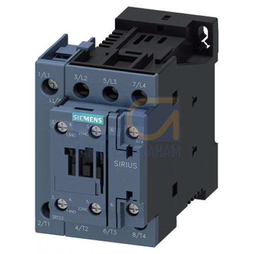 3RT23271BF40 - 50A 4P CONTACTOR S00 110VDC