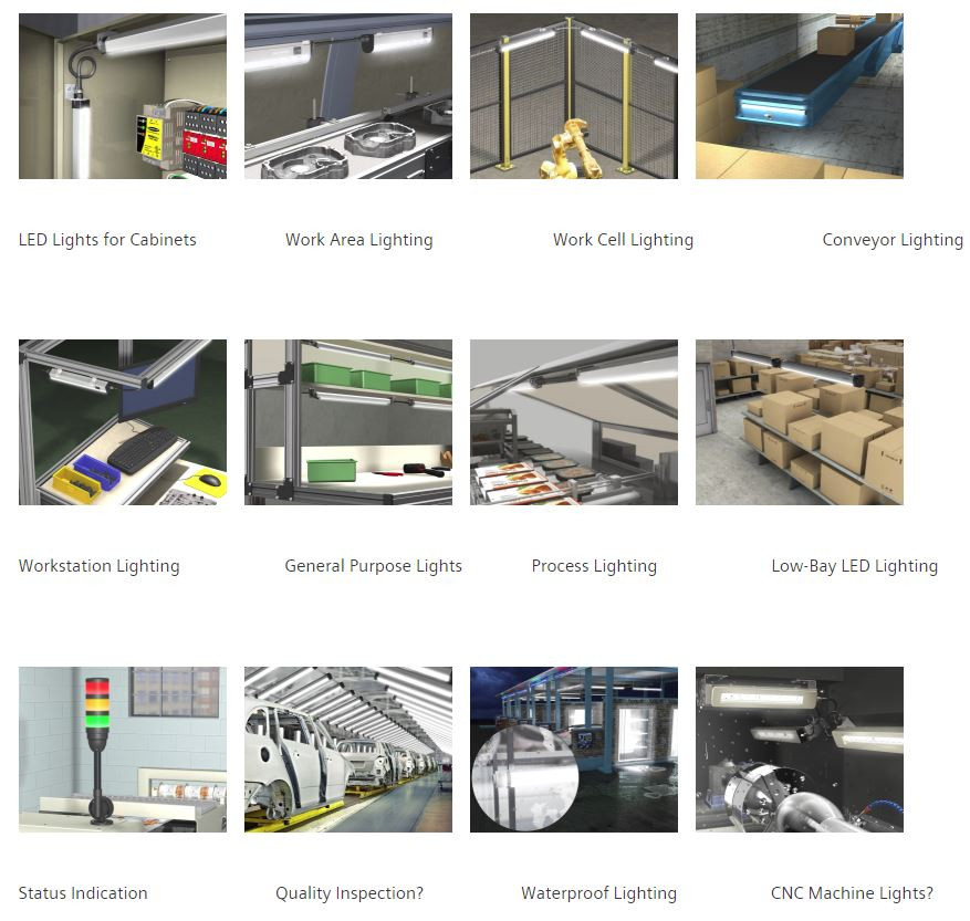 Industrial and Factory Automation LED Lighting